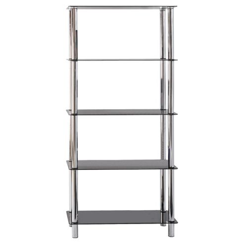 Atom 5 Shelf Unit, Black