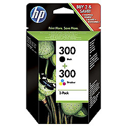 HP 300 2-pack Black/Tri-colour Original Ink Cartridges