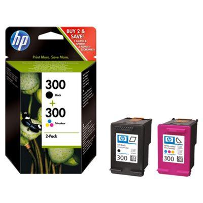 HP 300 2-pack Black/Tri-color Original Printer Ink Cartridges