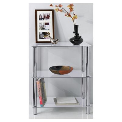 Atom 3 Shelf Unit, Clear