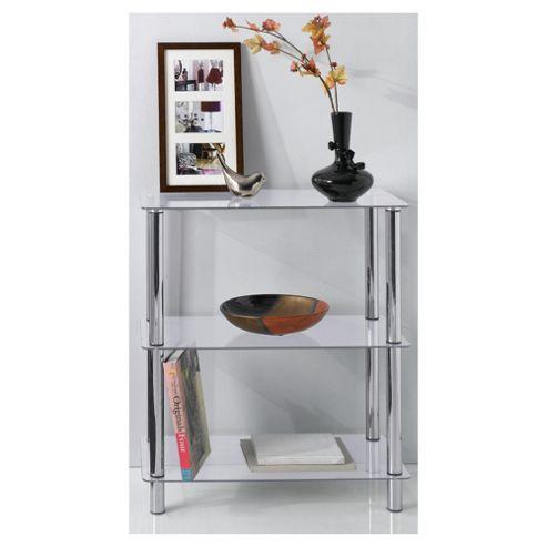 Atom 3 Shelf Unit, Clear