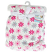 First Steps Supersoft Fleece Baby Cot Blanket Flowers 75x100cm