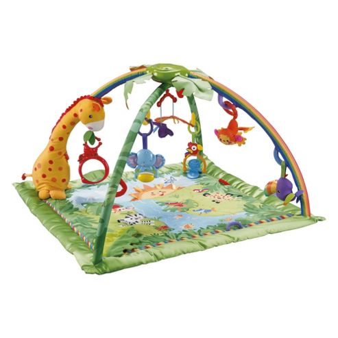 Fisher-Price Rainforest Melodies & Lights Deluxe Baby Play Gym