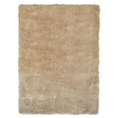 Tesco Rugs Luxurious Shaggy Rug 70X140Cm Natural