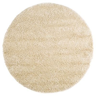 Tesco Rugs Circle Shaggy Rug Cream
