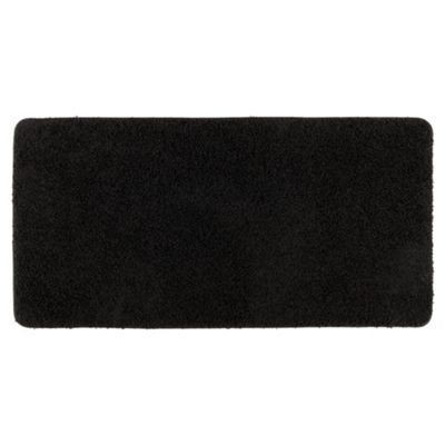 Tesco Rugs Shaggy Rug 60X110Cm, Black