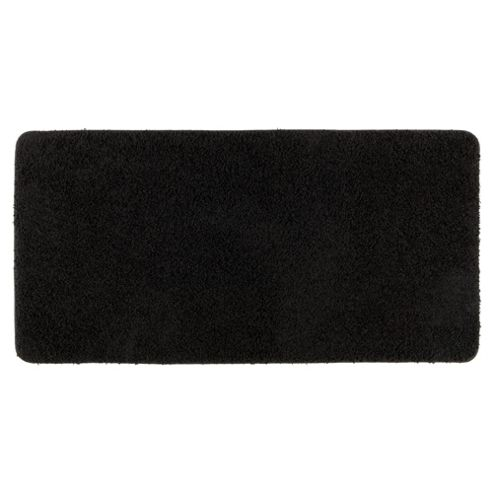 Tesco Rugs Shaggy Rug 60X110Cm, Black