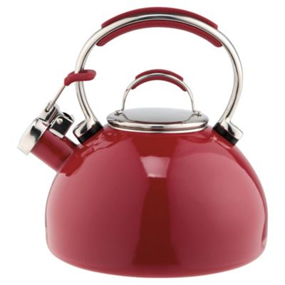 Prestige 2L Enamel Stove Top Kettle, Red
