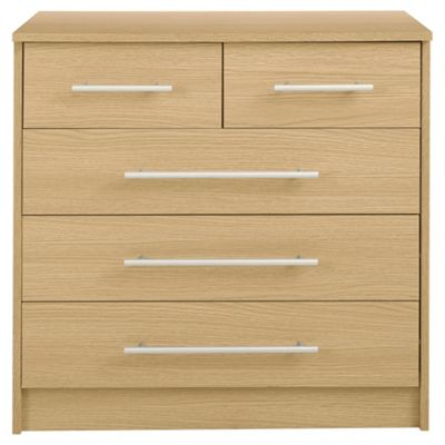 Kendal Oak Effect Chest of Drawers , 5 Drawer Chest