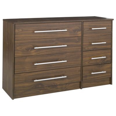 Kendal Walnut Effect Chest of Drawers, 8 Drawer Chest