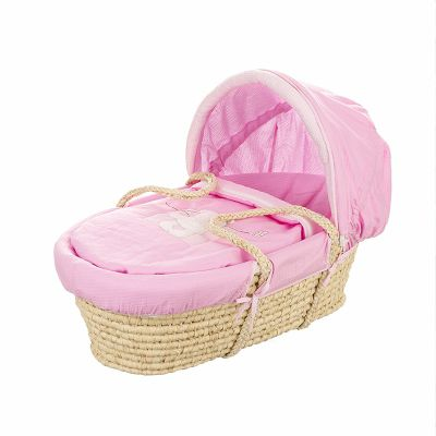 Obaby B is for Bear Moses Basket, Pink