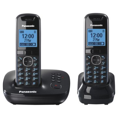 Panasonic KX-TG5522EB Twin Cordless Telephone , Black
