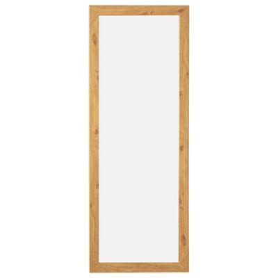Basic Mirror - Oak Effect 97x37cm