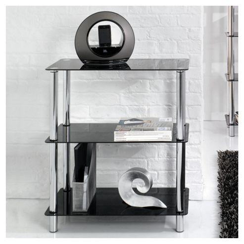 Atom 3 Shelf Unit, Black