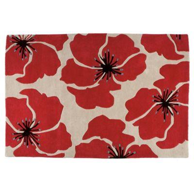 Tesco Rugs Poppy Rug 120x170cm Red