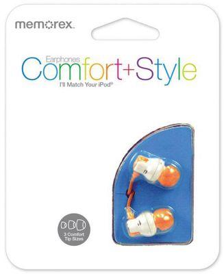 Memorex CB25 Comfort In-Ear Headphones - Orange Tips