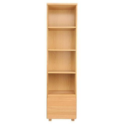 Maddox 1 Drawer Single Bookcase, Oak