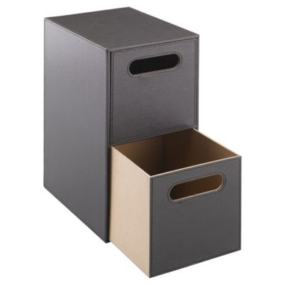 Tesco Leather Effect 2 Drawer Unit