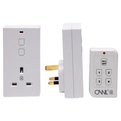 OWL remote control socket 2 pack