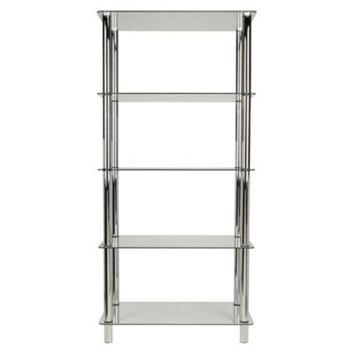 Atom 5 Shelf Unit, Clear