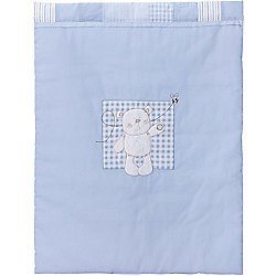 Obaby B is for Bear Crib Quilt and Bumper in Blue (Set of 2) - Blue