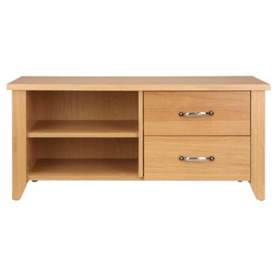 Harrogate 2 Drawer 2 Shelf Tv Unit, Oak