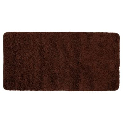 Tesco Rugs Shaggy Rug 60X110Cm, Chocolate