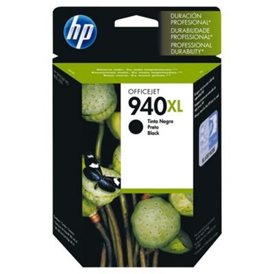 HP 940XL Printer Ink Cartridge (C4906AE)- Black- Duplicate
