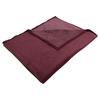 Biederlack Thermosoft Throw 140X180Cm, Plum