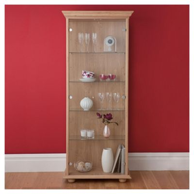 Henley 2 Door Display Cabinet, Oak-effect