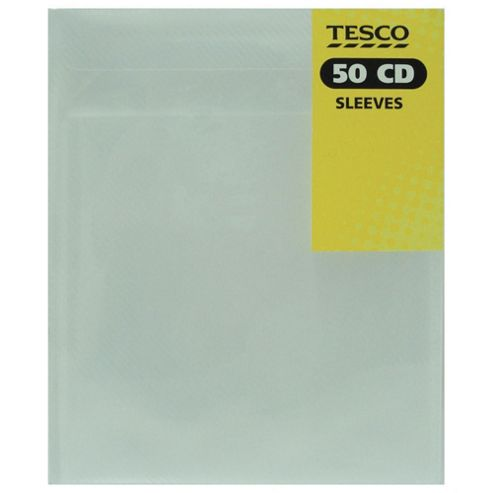 Tesco Plastic Sleeves - 50 Pack