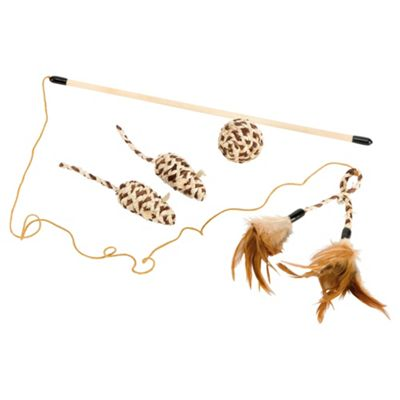 Rosewood cat toy set
