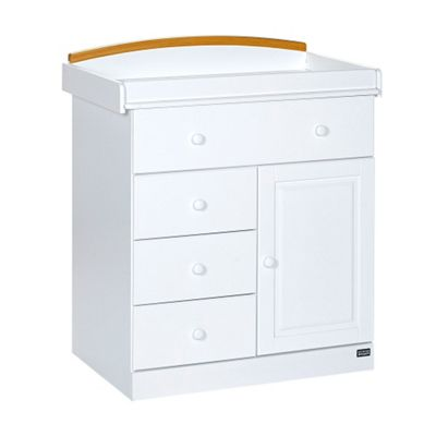 Tutti Bambini Barcelona Chest Of Drawers, White/Beech