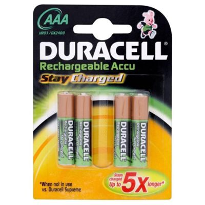 Duracell 4 Pack Rechargeable AAA Batteries
