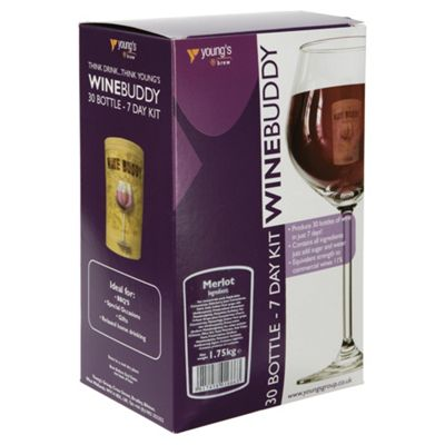 WineBuddy Merlot Kit, 30 bottles