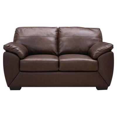 Alberta Leather Small 2 seater  Sofa, Chocolate