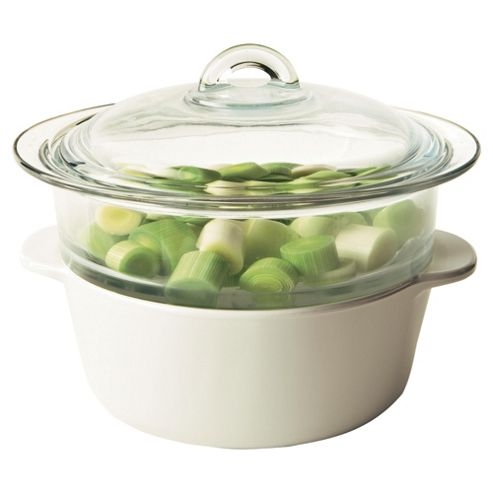 Pyroflam 2ltr Casserole Dish With Steamer