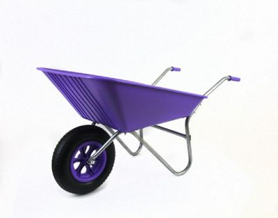 Bullbarrow Picador Plastic Wheelbarrow - Purple