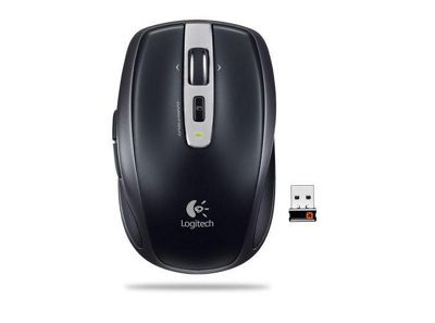 Logitech MX Anywhere Mouse (Tracks on Glass) - Black