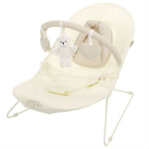 Obaby B Is For Bear Vibrating Bouncer, Cream