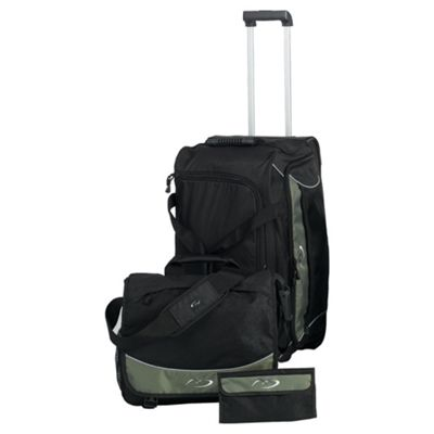 Tesco Arundel 2-Wheel Holdall, Messenger Bag & Toiletries Wallet Set