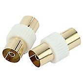 Technika Aerial Coaxial Cable Couplers Pack of 2