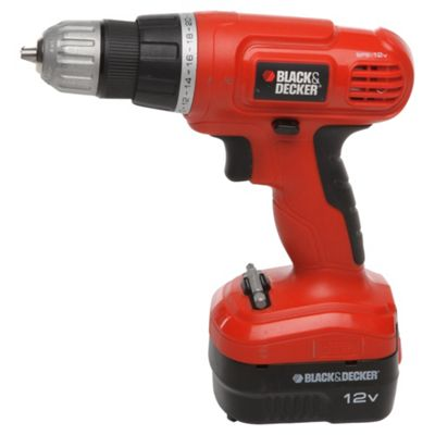 BLACK+DECKER 12V Cordless Drill with Spare Battery