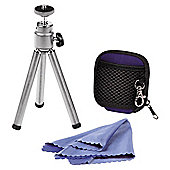 Hama Accessories Set for Digital Cameras (Tripod, Memory Card Case and Cleaning Cloth)