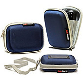 Blue Water Resistant Hard Digital Camera Case Cover