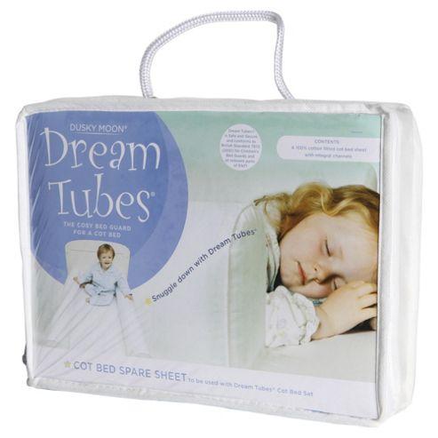 Dream Tubes Cotton Junior Bed Spare Sheet, White