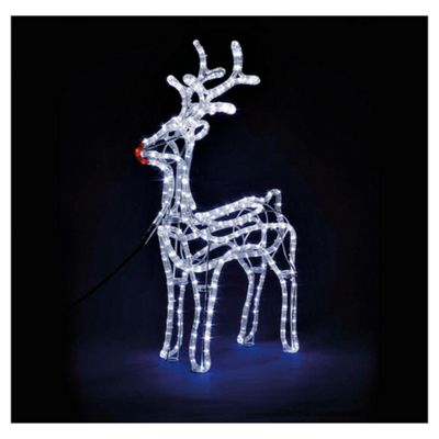 buy large light up standing reindeer from our all. Black Bedroom Furniture Sets. Home Design Ideas