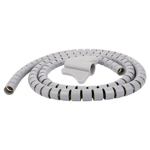 Tesco Cable Tidy Kit for computer, TV and phone- Grey