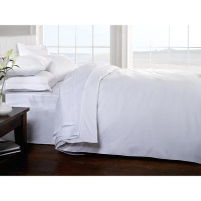 Rapport 400 Thread Count Egyptian Cotton White Fitted Sheet - Single