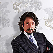 Laurence Llewelyn-Bowen Cascada Floral Metallic Wallpaper